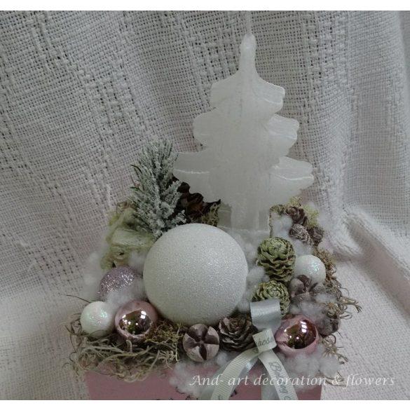 Roses téli kollekció. Ünnepi asztaldísz, dekoráció.