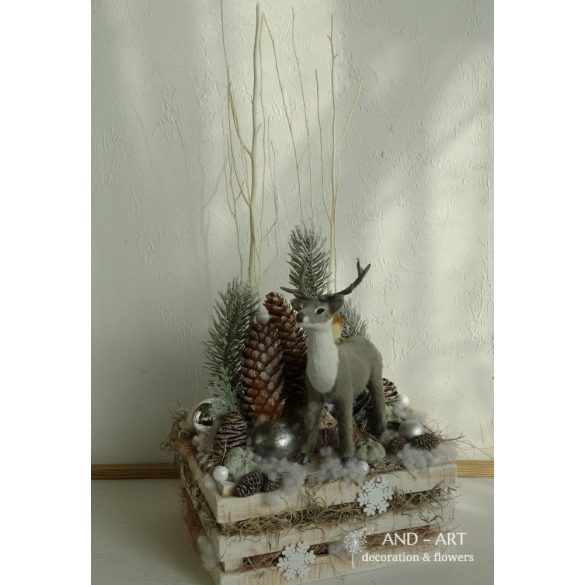 Téli álom-karácsonyi ünnepi dekoráció.