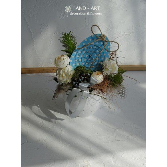 Pöttyös tojásos húsvéti dekoráció. And-art mód.