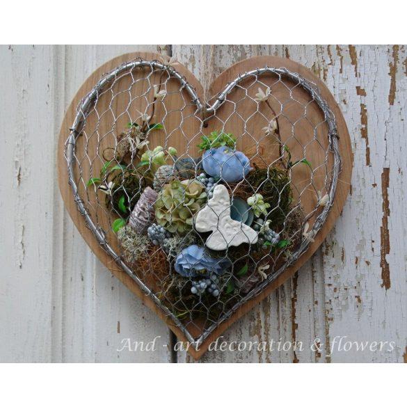 Modern tavaszi-nyári ajtódísz, fali dekoráció.Limitált!