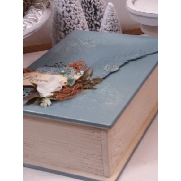 Vintage receptgyűjtő- könyvdoboz