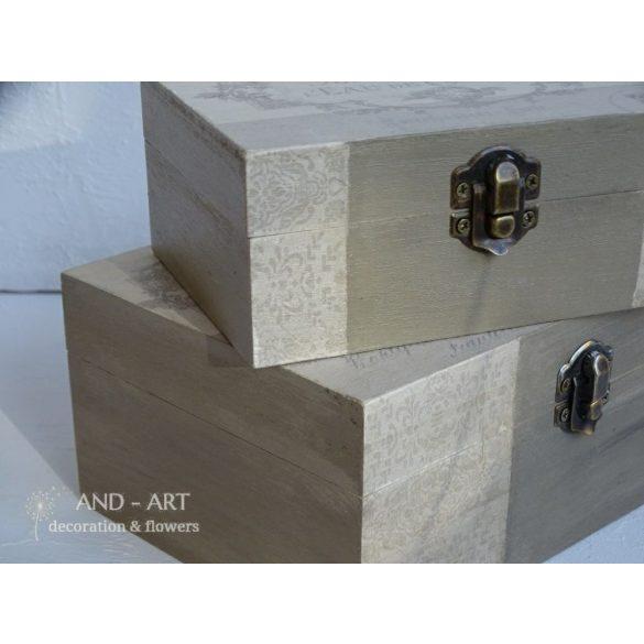 Vintage, romantikus tároló doboz, ékszertartó