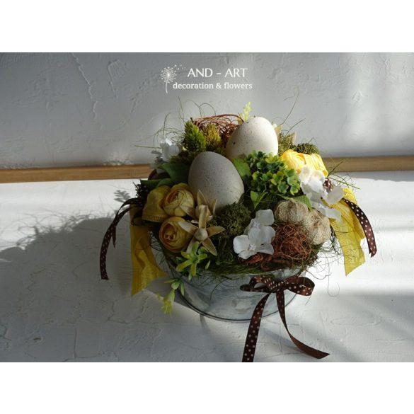 Húsvéti asztaldísz-dekoráció