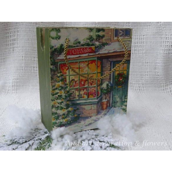 Zöld színű fa karácsonyi ajándéktasak