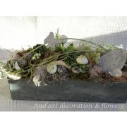 Tavaszi- húsvéti- dekoráció selyemvirágokkal-termésekkel-kézműves termék