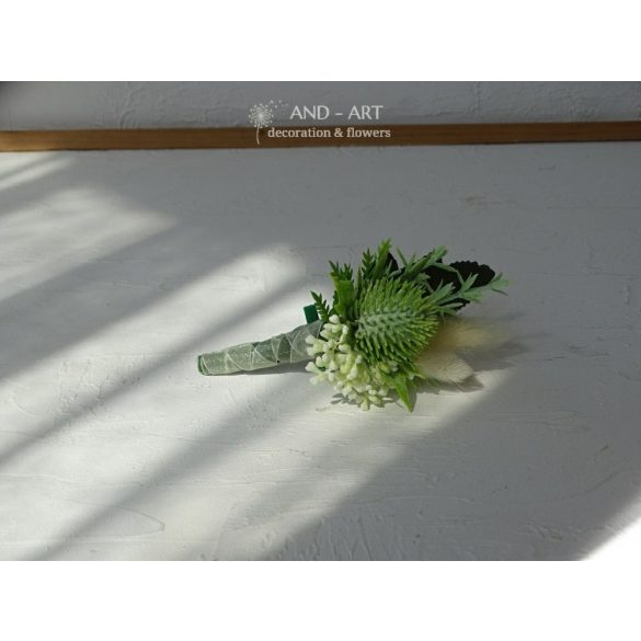 Unique groom or witness flower boutonniere.