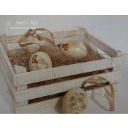 Húsvéti tojás locsolóknak, barkafára dekoráció