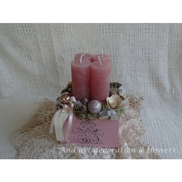 Advent rózsaszínben. Adventi box