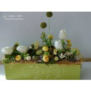 Romantikus tavaszi asztaldísz. And-art mód.