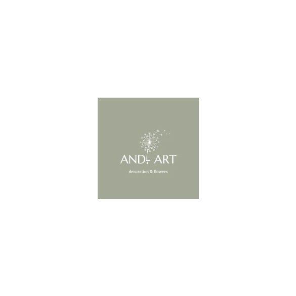 Egyedi kerek virágbox-kézi festéssel-selyemvirágokkal.