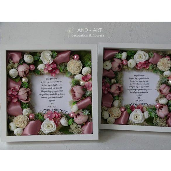 Romantikus köszöntő ajándék-szülőköszöntő esküvőre.