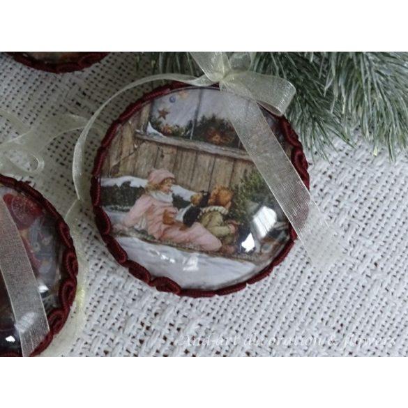 Vintage karácsonyfadísz