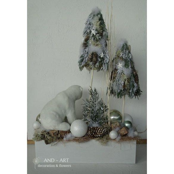 Jeges szezon-Téli dekoráció,  karácsonyi otthondísz.