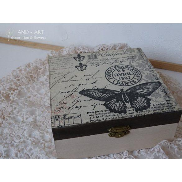Modern romantikusoknak-Tároló, ékszertartó, teás doboz.