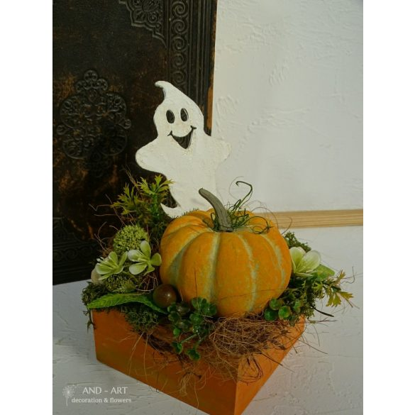 Szellemes őszi dekoráció. Halloween-re.