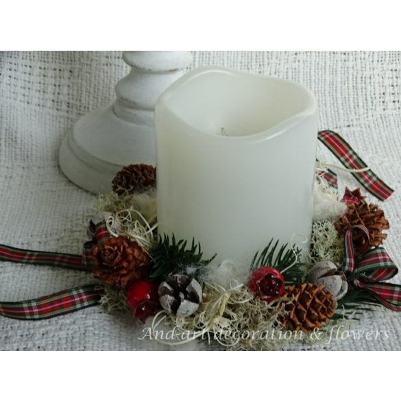 Klasszikus karácsonyi gyertyagyűrű