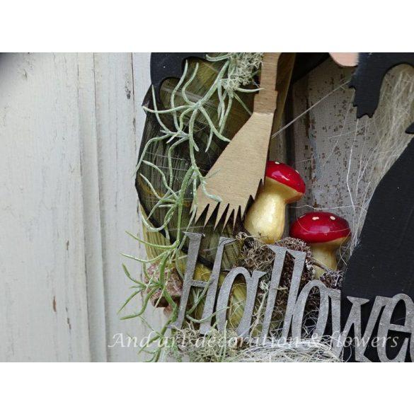 Halloweenre..Ajtódísz, dekoráció.