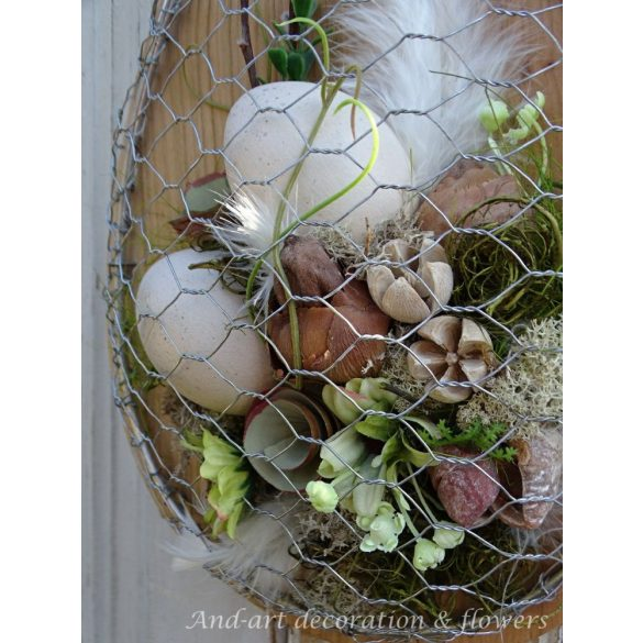 Modern ajtódísz, fali dísz. Tavaszi- húsvéti kopogtató And -art mód. LIMITÁLT.