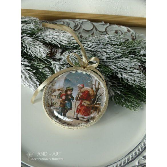 Karácsonyfadísz-vintage stílusban.