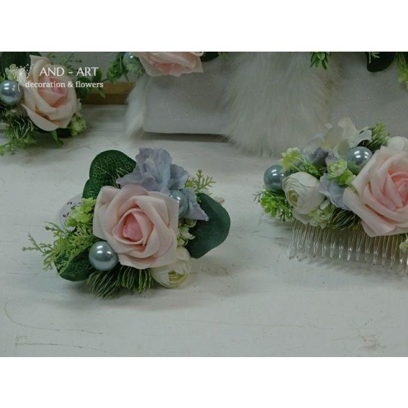 Vőlegény kitűző-esküvői kiegészítő