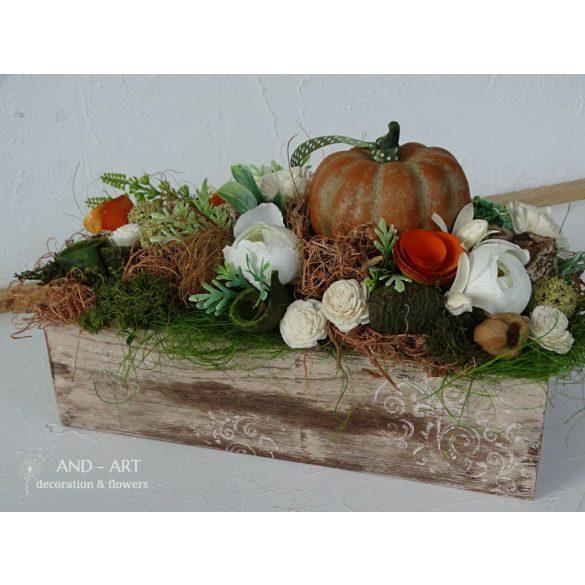 Őszi rusztikus asztaldísz
