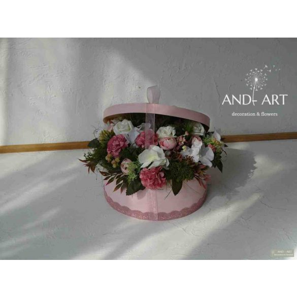 Elegáns virágdoboz a különleges alkalmakra... , Esküvő, szülőköszöntő, anyák napja,születés.