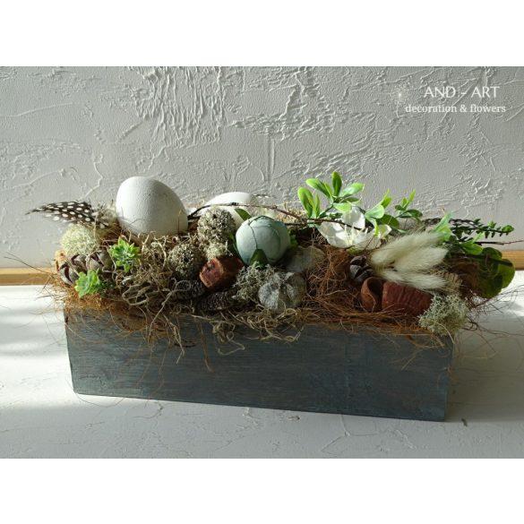 Modern húsvéti asztaldísz. And-art mód
